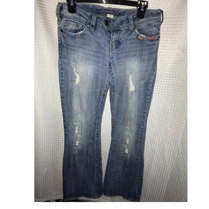 Free w/bundle Size 28/31 silver jeans distressed
